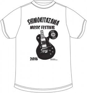 下北沢音楽祭Tシャツ_2016_ホワイト